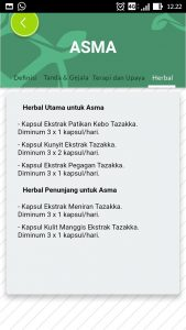 foto gambar halaman herbal aplikasi android google play store resep herbal tazakka