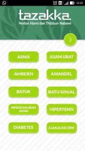 foto gambar halaman utama aplikasi android google play store resep herbal tazakka