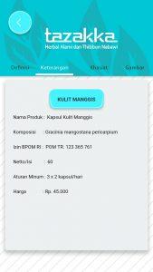 foto gambar halaman keterangan aplikasi android google play store produk herbal tazakka