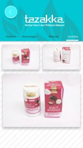 foto gambar halaman gambar produk aplikasi android google play store produk herbal tazakka
