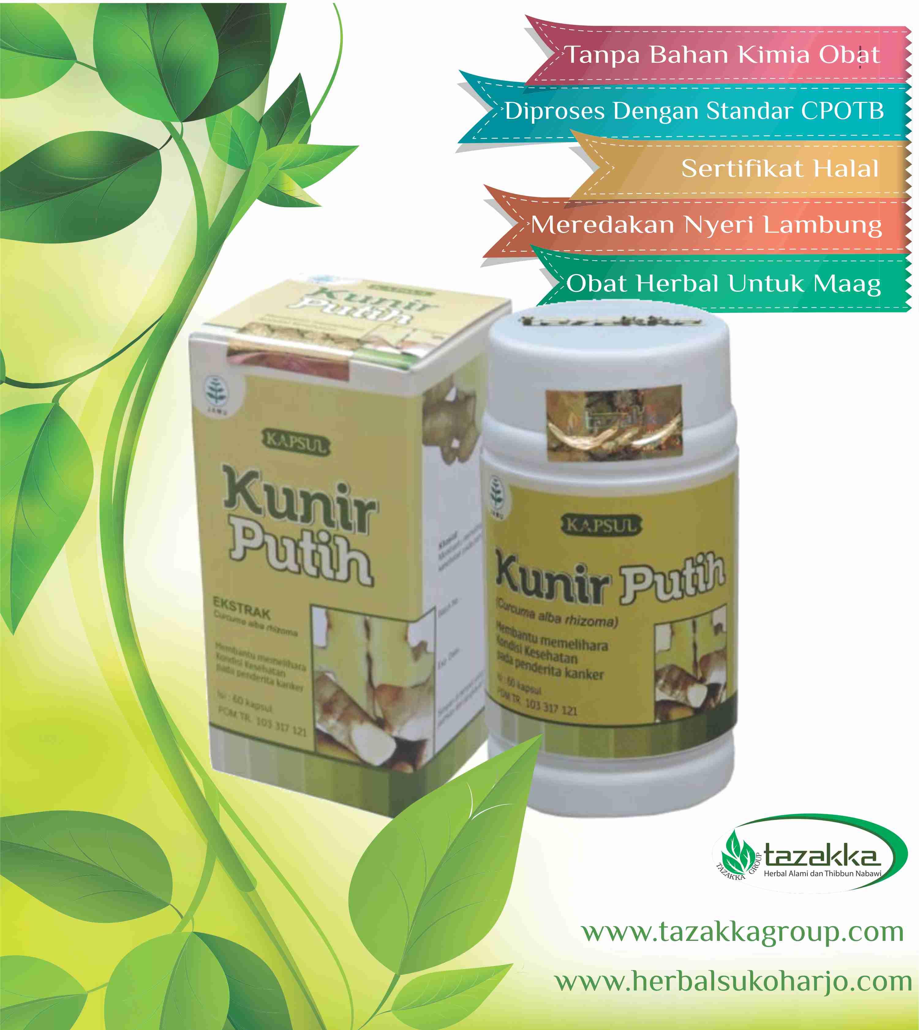 foto gambar Produk obat herbal sukoharjo tazakka yang ampuh mengobati penyakit sakit maag dan asam nyeri lambung yang alami, aman berkhasiat dan kualitasnya terjamin