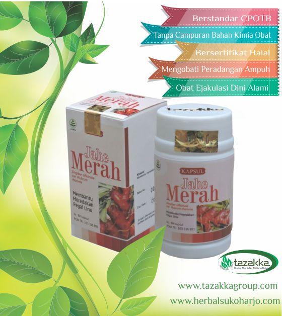 foto gambar produk obat herbal tazakka yang ampuh untuk mengobati penyakit ejakulasi dini dengan herbal jahe merah.