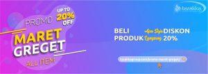 foto gambar contoh banner website tazakka group promo diskon 20 persen maret greget beli semua produk herbal tazakka