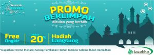 contoh foto gambar banner website diskon ramadhan sale 2018 herbal tazakka2