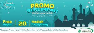 contoh foto gambar banner website diskon ramadhan sale 2018 herbal tazakka2