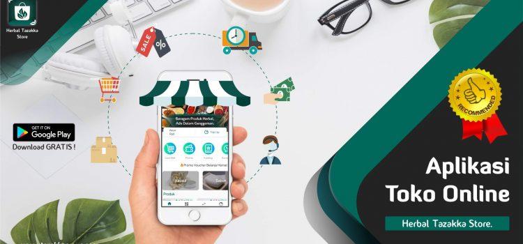 Aplikasi Toko Online Herbal Tazakka Store.