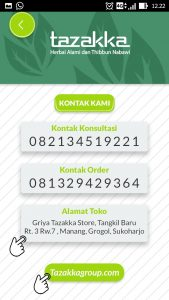 foto gambar halaman terakhir nomor kontak dan website aplikasi android google play store resep herbal tazakka
