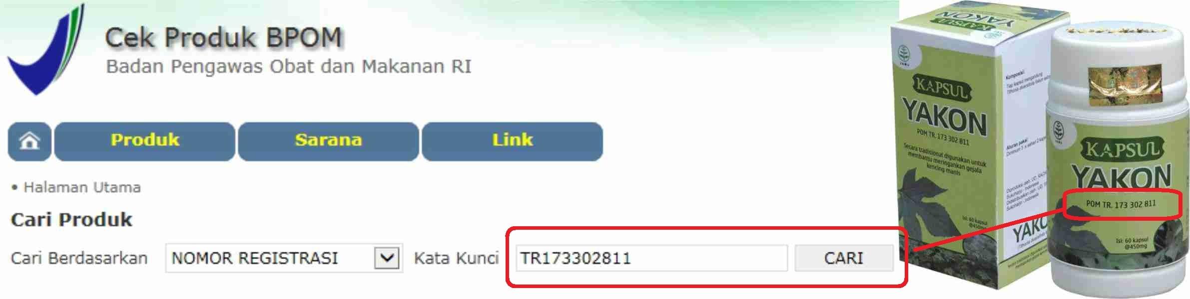 foto gambar Mengecek apakah produk herbal tazakka sudah terdaftar di bpom dan memiliki izin edar bagian 1