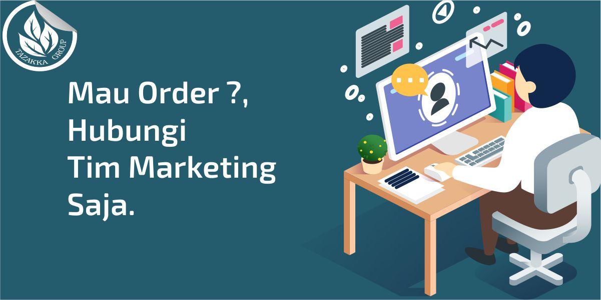 contoh foto gambar banner website cara pemesanan produk obat herbal Tazakka Group dan Nomor Kontak Tim marketing