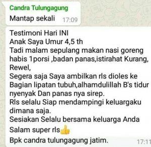 contoh gambar foto tanggapan respon pelanggan Testimoni herbal RLS Tazakka 10