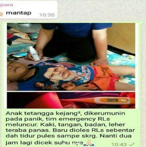 contoh gambar foto tanggapan respon pelanggan Testimoni herbal RLS Tazakka 7