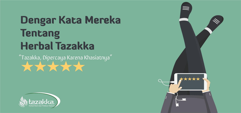 contoh foto gambar banner website banner testimoni kata pelanggan produk herbal sukoharjo feedback customer herbal tazakka