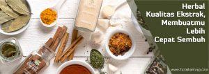 contoh foto gambar banner website slider informasi herbal kualitas ekstrak keuntungannya mudah diserap tubuh dan reaksi obat cepat diserap sehingga herbal tazakka lebih cepat sembuh