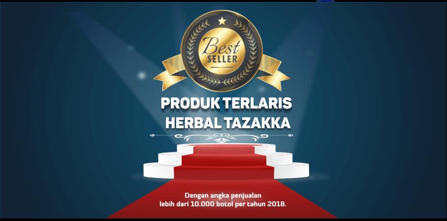 banner website produk terlaris best seller herbal tazakka