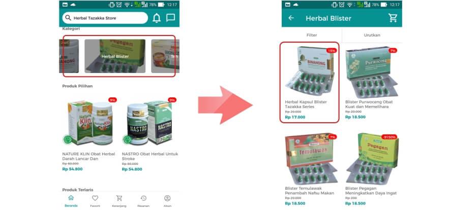 Cara Belanja Online via aplikasi jual beli online terpercaya Herbal Tazakka Store 2