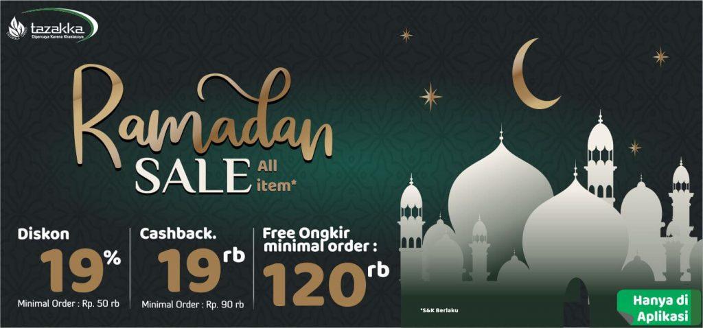 promo ramadhan sale 2019 cashback, diskon dan bebas ongkir dari Herbal Tazakka Group