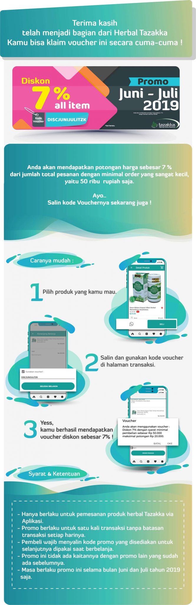 Cara Pakai Kode Voucher Diskon Belanja Di Aplikasi Toko Online Herbal Tazakka