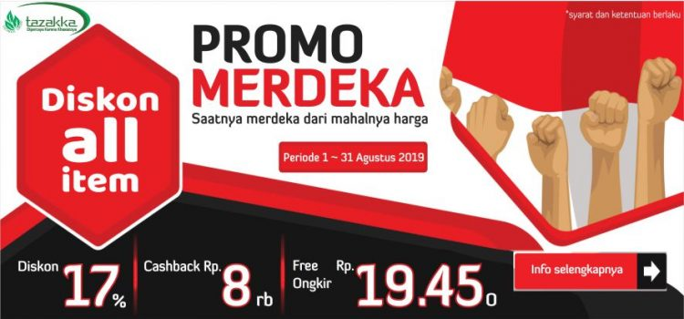 Promo merdeka dari herbal Tazakka