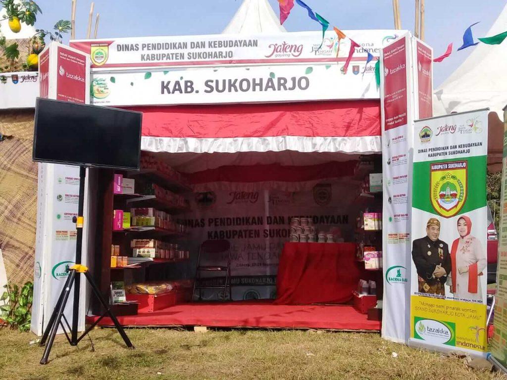 Tampak luar, Stand Herbal Tazakka selaku perwakilan dari Kabupaten Sukoharjo pada acara pameran Festival Jamu Dan Kuliner 2019 di Cilacap - Jawa Tengah