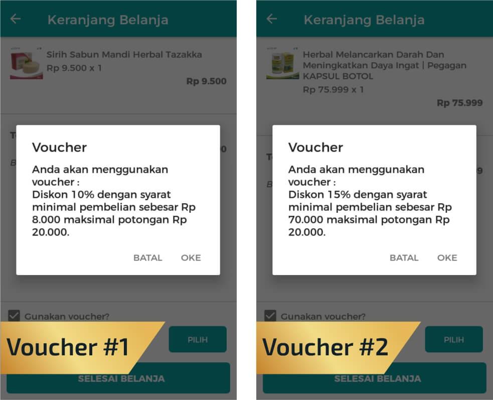 Voucher Belanja Murah via Aplikasi