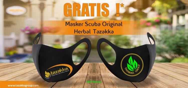 GRATIS ! Masker Kain Scuba Herbal Tazakka Original.