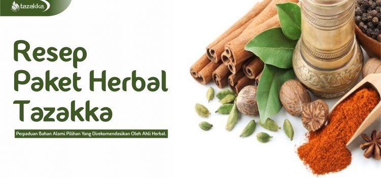 Resep Paket Kombinasi Obat Herbal Tazakka.