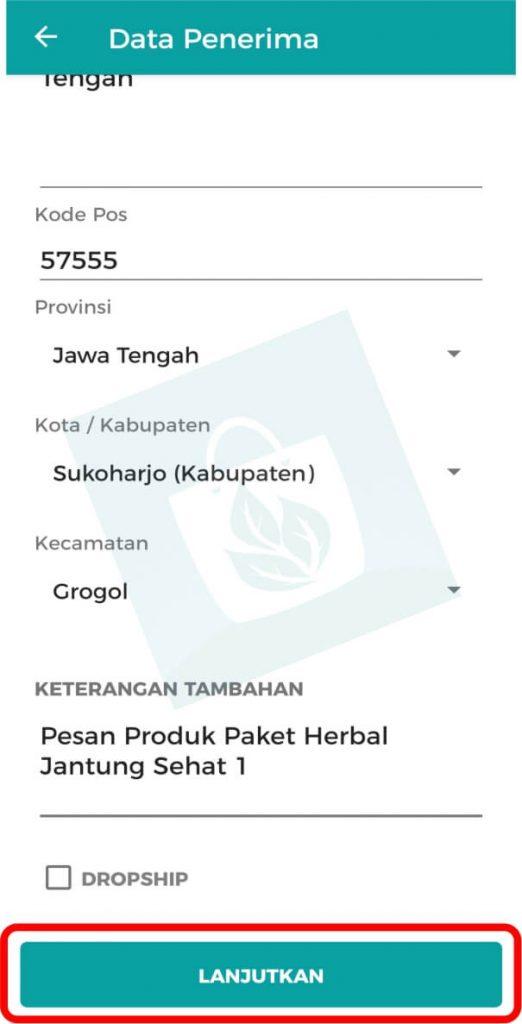 Aplikasi Toko Online Herbal Tazakka Group Halaman Data Pembeli
