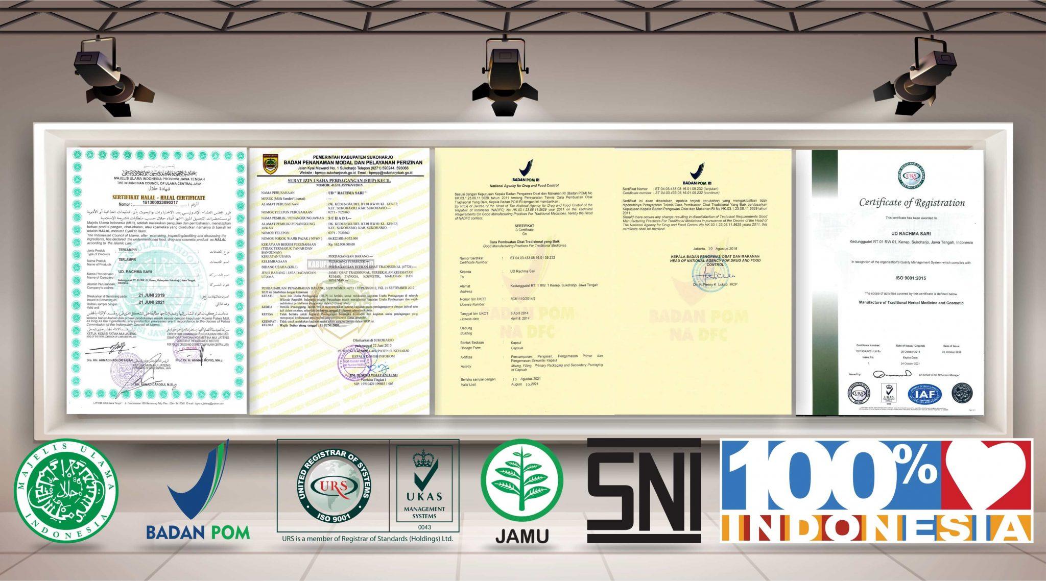 sertifikat halal MUI CPOTB Herbal Tazakka