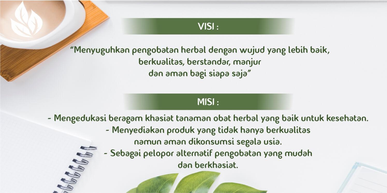 visi misi perusahaan herbal Tazakka Group